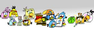 Spending Time with Stella's Friends by AngryBirdsStuff