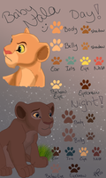 Baby Nala color chart by caper-dj