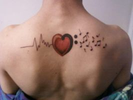 Love of Music Tattoo by mikeecandoit
