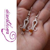 Small cute earrings by dianathema