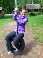 Me on a tire swing by BiggieShorty