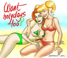 Ivy's and Harley's holidaysss by artlekina