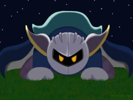 Meta Knight In Grass by StellasStar