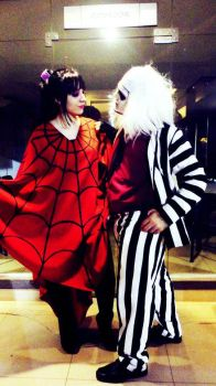 Lydia and beetlejuice - cosplay by A-McGill