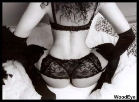 Amber black lingerie by woodeye