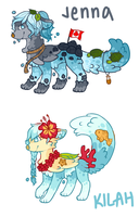 MYO Water Dogs by jennawing
