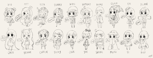 almost all of ehy's ocs by nyeupe