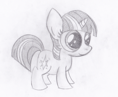 Filly Twilight Sparkle by drawponies