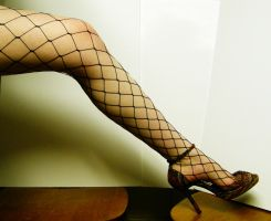 Leg - Fishnet Stock9 by D-is-for-Duck