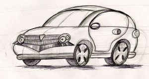 Chicadee Car Concept Sketch by roxioxxLTU