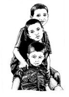 Pen and Ink Cousins 2 by chrisfire1