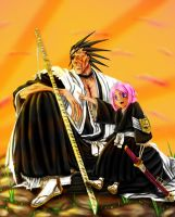 Kenpachi and Yachiru by Sardoron