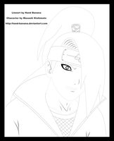Deidara's Surprise Lineart by Hand-Banana
