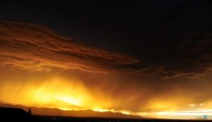 Orange Epic Cloud Burst by Moohoodles