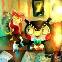 Blathers and Celeste by VEKTTOR