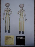 Gold Dress Design by AGlimpseOfMe