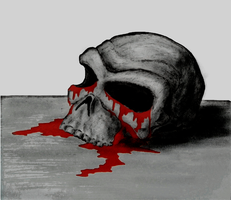 Old Bloody Skull by Akinaro