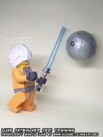 Papercraft LEGO Star Wars Jedi lightsaber training by ninjatoespapercraft