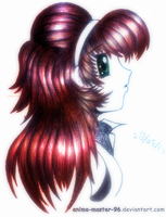 Hair Study from the Imagination (2) (Coloured) by anime-master-96
