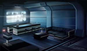 Mass Effect 3 Fanart - Normandy Lounge by SilentReaper