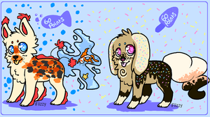. FishTail Candy Dog adopts - Closed . by HyperMuttAdoption