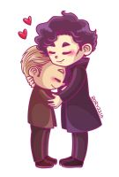 Johnlock hug by Rory221B