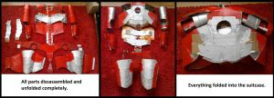 Iron man Mark 5 Suitcase Transformation Progress by UnknownEmerald