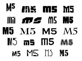 M5 Typography by pyrasterran