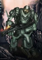 Robot 2# Speed painting by cha4os