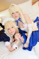 Pretty Meidos~ Maid Saber and Arcueid by RuffleButtCosplay