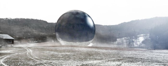 giant glass sphere by ant-ix