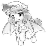 Remilia as a pony by AlloyRabbit