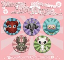 The Forest Dwellers - Pocket Mirror Designs by TomodachiIsland