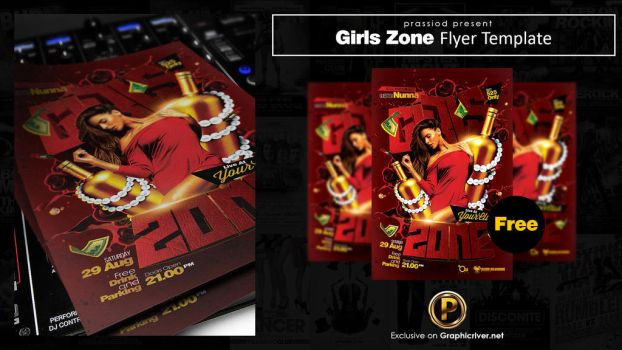 Girls Zone Flyer Template by prassetyo