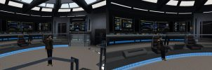 Reina Beaumont On The USS Voyager bridge by ReinaHW