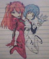 rei and asuka by skatergirl747