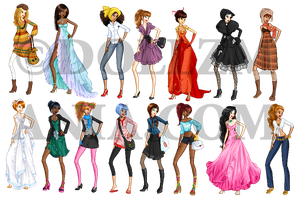 Dollzmania models set by Blumina