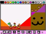 I did a thing on Mario Paint by Blazikenpwnsyou