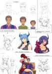 JJ's harem- relations sheet (commission) by Precia-T