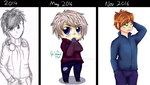 Improvement Meme [2 years - 6 Months ago - Now] by PipsqueakArt