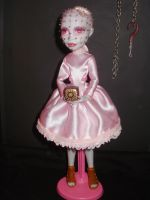 monster high custom repaint Pinhell-ope cenobite by Rach-Hells-Dollhaus