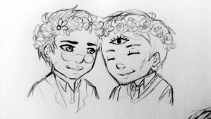 Flower Crowns by ashestocrows
