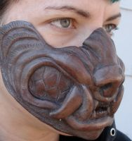 Cold cast copper werewolf mask by missmonster