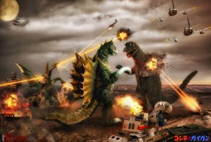 Godzilla: Birthday Ed.6(Godzilla vs Gigan) by innocentoVia