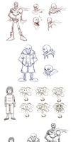 Undertale sketch dump 01 by JoyceW-Art