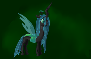 Queen Chrysalis wallpaper by WolfyOmega