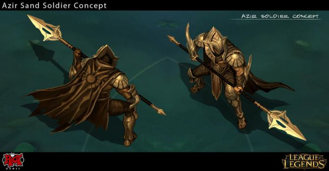 Azir Sand Soldier Concept Art by Yideth