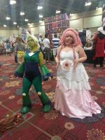 Rose Quazt and Peridot Cosplay by Jovianwolfgirl