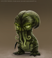DAY 223. Cthulhu by Cryptid-Creations