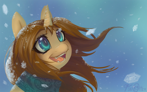 Sketchy in Snow by KatOtter